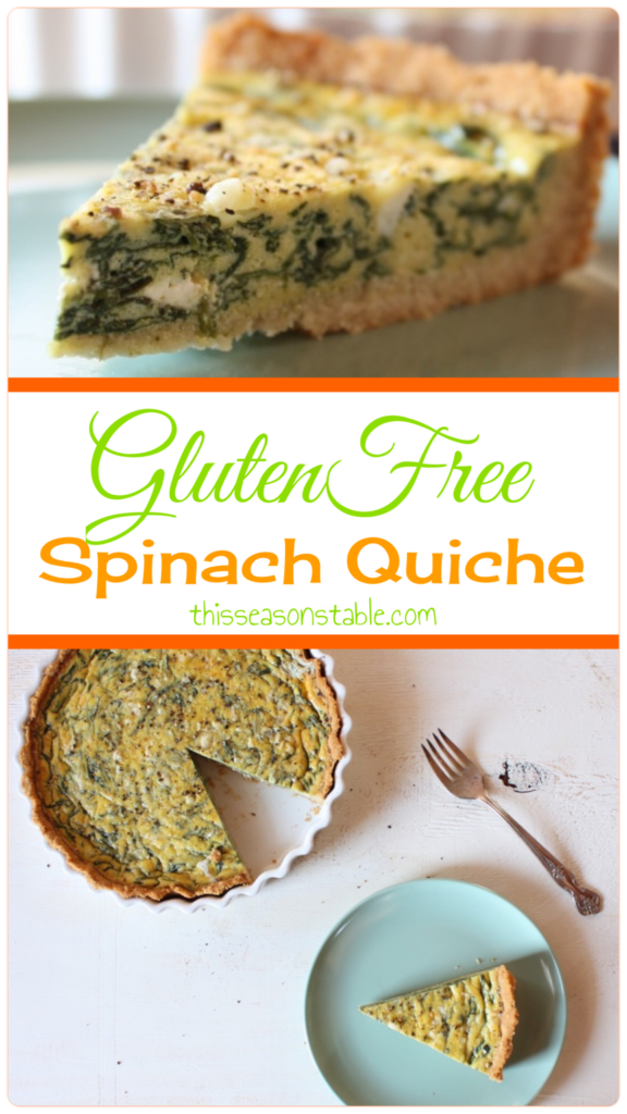 Gluten Free Spinach Quiche. This crust is incredible!!