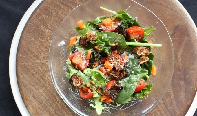 Parmesan Zucchini Croutons