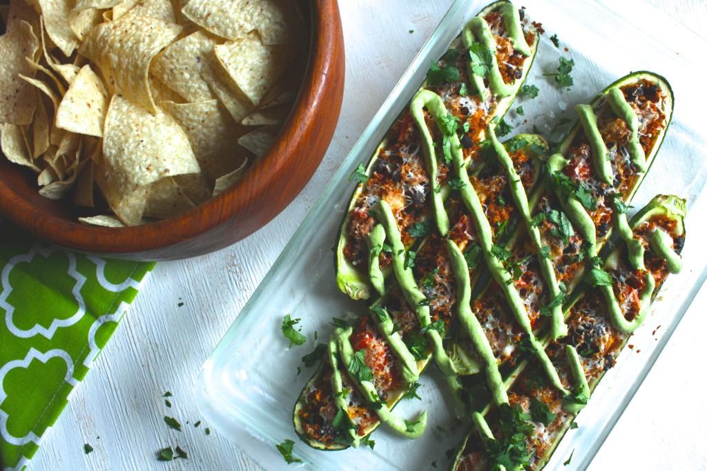 Mexican Stuffed Zucchini Boats