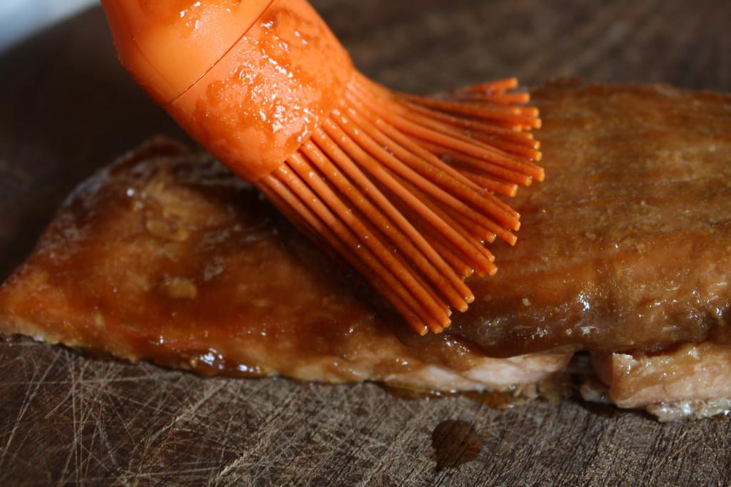 Salmon with BBQ sauce