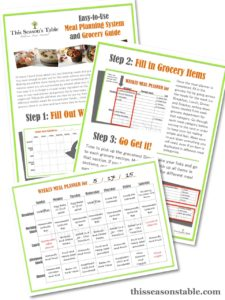 Meal Planning and Grocery Guide from This Season's Table