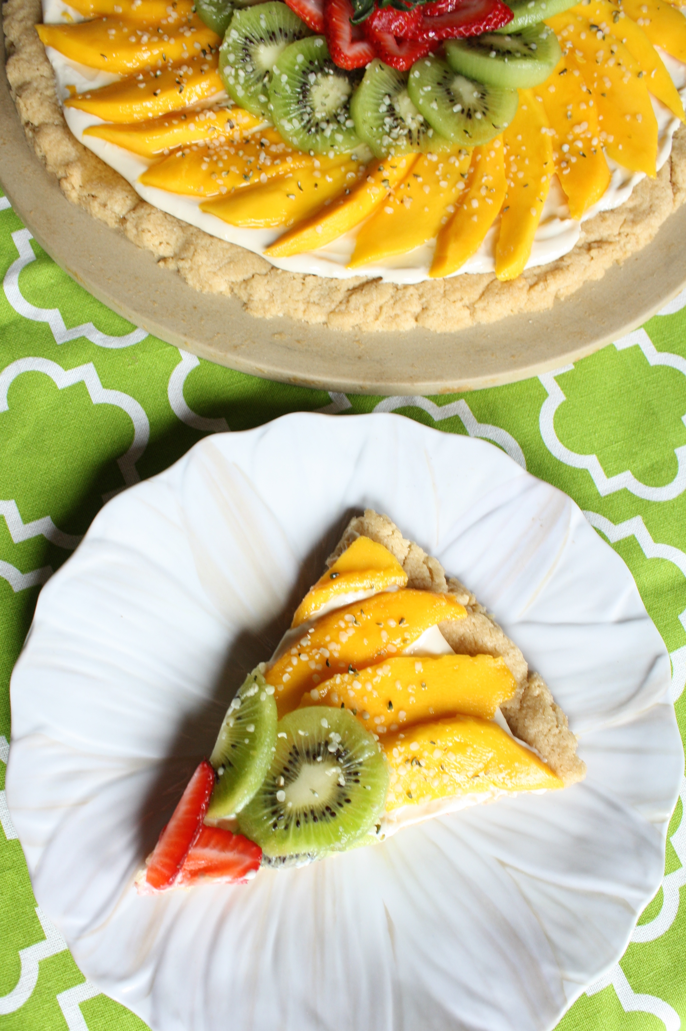 Spring Fruit Pizza Cookie - This Season's Table