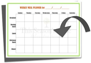 menu and grocery list planner