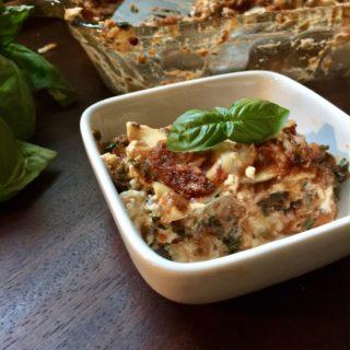 Smoked Gouda and Collard Veggie Lasagna – Toddler approved!