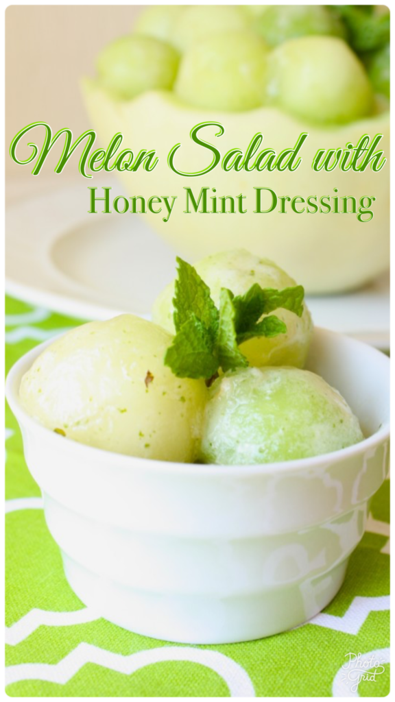 Melon Salad with Honey Mint Dressing
