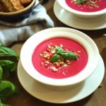 Harvest Soup with Grilled Bacon and Blue Cheese Dippers