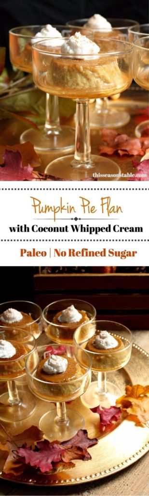 Paleo Pumpkin Flan with Coconut Whipped Cream. Paleo, dairy free and no refined sugar