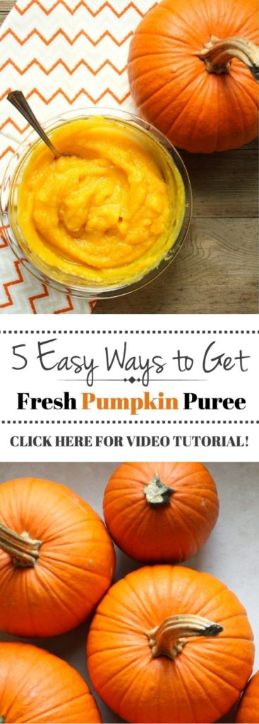 5 easy ways to get fresh pumpkin puree. So easy, healthy and delicious!