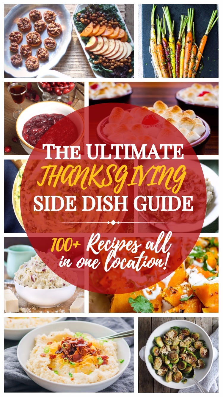100+ of the BEST Thanksgiving Side Dish recipes! PLUS - an exclusive BONUS section to help make your Thanksgiving day a breeze!!