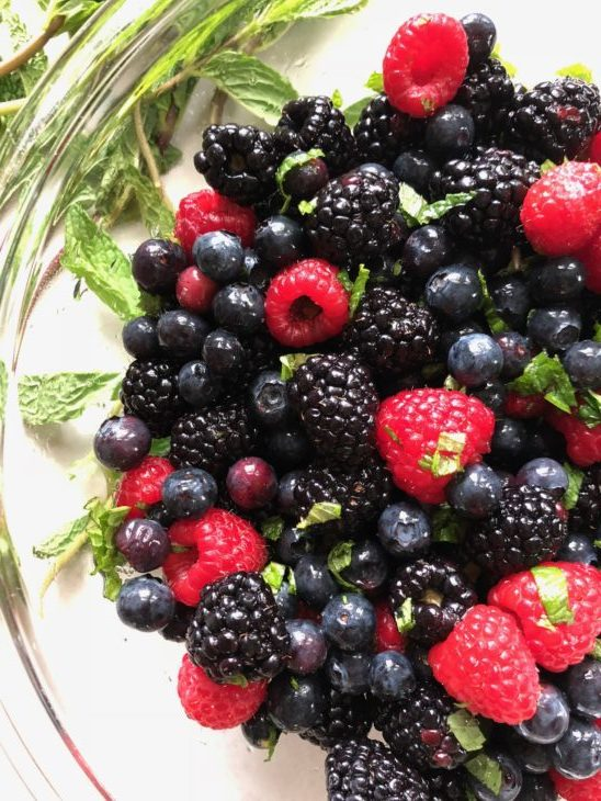 Vanilla Mint Summer Berry Bowl with Creme Fraiche - This ...